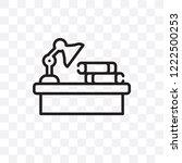 homework vector linear icon... | Shutterstock .eps vector #1222500253