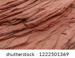 sandstone forms when layers of... | Shutterstock . vector #1222501369