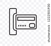 insert card vector linear icon... | Shutterstock .eps vector #1222501930