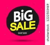 big sale banner design template ... | Shutterstock .eps vector #1222503469