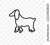 fox terrier dog vector linear... | Shutterstock .eps vector #1222503820