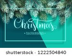 christmas background with fir... | Shutterstock .eps vector #1222504840