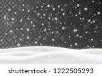 christmas falling snow vector... | Shutterstock .eps vector #1222505293