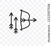 bow and arrow vector linear... | Shutterstock .eps vector #1222507036