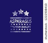 asparagus premium quality... | Shutterstock .eps vector #1222508410