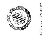 asparagus premium quality... | Shutterstock .eps vector #1222508419
