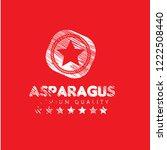 asparagus premium quality... | Shutterstock .eps vector #1222508440