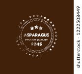 asparagus premium quality... | Shutterstock .eps vector #1222508449