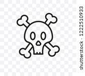 jolly roger vector linear icon...   Shutterstock .eps vector #1222510933