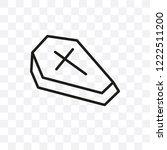 wooden coffin vector linear... | Shutterstock .eps vector #1222511200