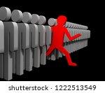 different people.3d render | Shutterstock . vector #1222513549