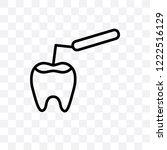 tooth filling vector linear... | Shutterstock .eps vector #1222516129
