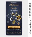 invitation card for a friendly... | Shutterstock .eps vector #1222522909