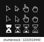 arrow web cursors  digital hand ...   Shutterstock .eps vector #1222523440