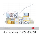 growth graph with bundles of... | Shutterstock .eps vector #1222529743