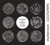 hand drawn vector plants ... | Shutterstock .eps vector #1222529890