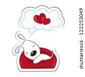 Sleeping Dog In Love.sticker....