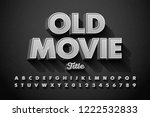 retro style font  old movie... | Shutterstock .eps vector #1222532833