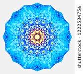 round symmetrical digital... | Shutterstock . vector #1222534756