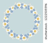 chamomile and forget me not...   Shutterstock .eps vector #1222535596