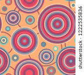abstract seamless ethnic style... | Shutterstock . vector #1222535836