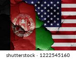 flags of afghanistan and usa... | Shutterstock . vector #1222545160