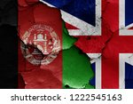 flags of afghanistan and uk... | Shutterstock . vector #1222545163