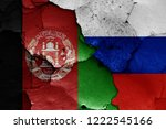 flags of afghanistan and russia ... | Shutterstock . vector #1222545166
