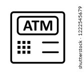 atm machine banking line icon | Shutterstock .eps vector #1222545679