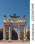 triumphal arch  arco della pace ... | Shutterstock . vector #1222547449