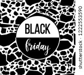 black friday sale event theme.... | Shutterstock .eps vector #1222553590