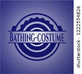 bathing costume emblem with...   Shutterstock .eps vector #1222554826