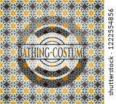 bathing costume arabic badge...   Shutterstock .eps vector #1222554856