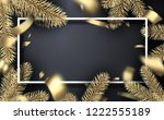 grey christmas and new year... | Shutterstock .eps vector #1222555189