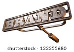 ������, ������: A metal cattle brand