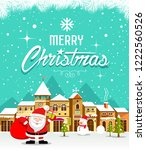 merry christmas lettering with... | Shutterstock .eps vector #1222560526