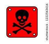 isolated plate logo skull and... | Shutterstock .eps vector #1222563616