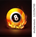 yellow ball with the number 8 | Shutterstock . vector #122256700
