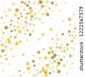 colorful stars confetti ... | Shutterstock .eps vector #1222567579