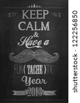 vintage happy new year... | Shutterstock .eps vector #122256850