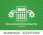 international accounting day... | Shutterstock .eps vector #1222571353