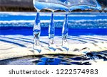icicles in sun scene. icicles... | Shutterstock . vector #1222574983