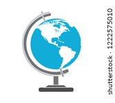 earth globe ball icon  world... | Shutterstock .eps vector #1222575010