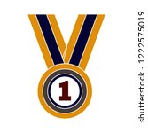 win medal icon   award... | Shutterstock .eps vector #1222575019
