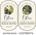 vector set of two labels for... | Shutterstock .eps vector #1222580476