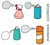 vector set of spray can and... | Shutterstock .eps vector #1222582126