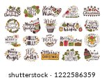 set of christmas handwritten... | Shutterstock .eps vector #1222586359