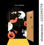 cute halloween day concept...   Shutterstock .eps vector #1222595779
