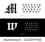 elegant blackletter gothic... | Shutterstock .eps vector #1222597930
