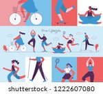 world health day. vector... | Shutterstock .eps vector #1222607080